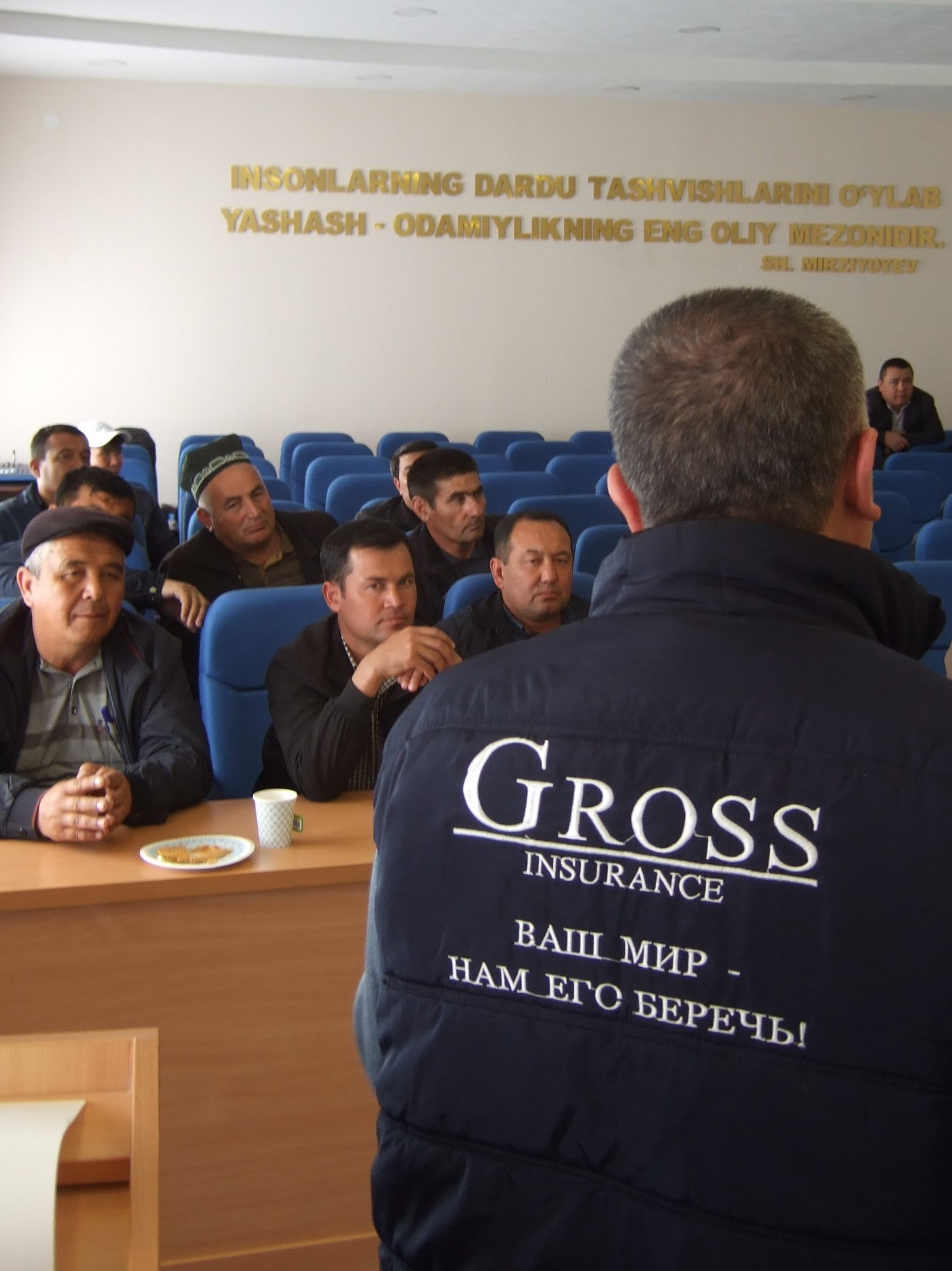 Diskussion von Landwirten mit Unternehmenspartnern. © Lena Kuhn