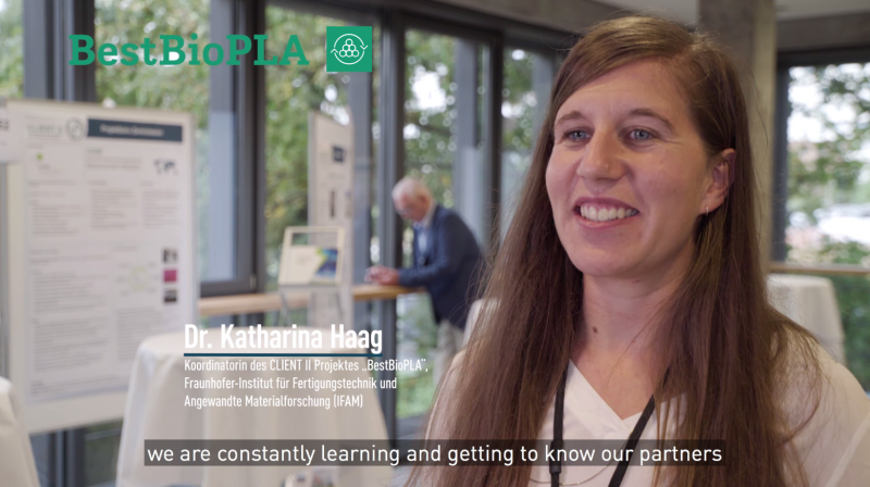 Interview with Dr. Katharina Haag (BestBioPLA) in the Client II video