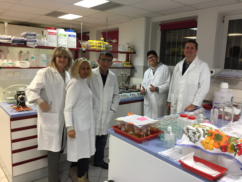 Central Asian TRANSPOND project partners collaborate on laboratory work in Radeberg